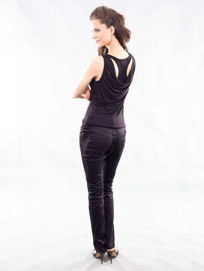 Skinny Maternity Black Pants with Supportive Belly Panel