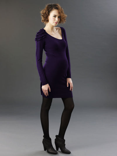 Maternity Wool Dress with Detachable Full Inner Slip made from Modal