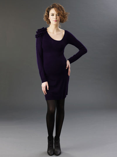 Long Sleeve Maternity Wool Dress