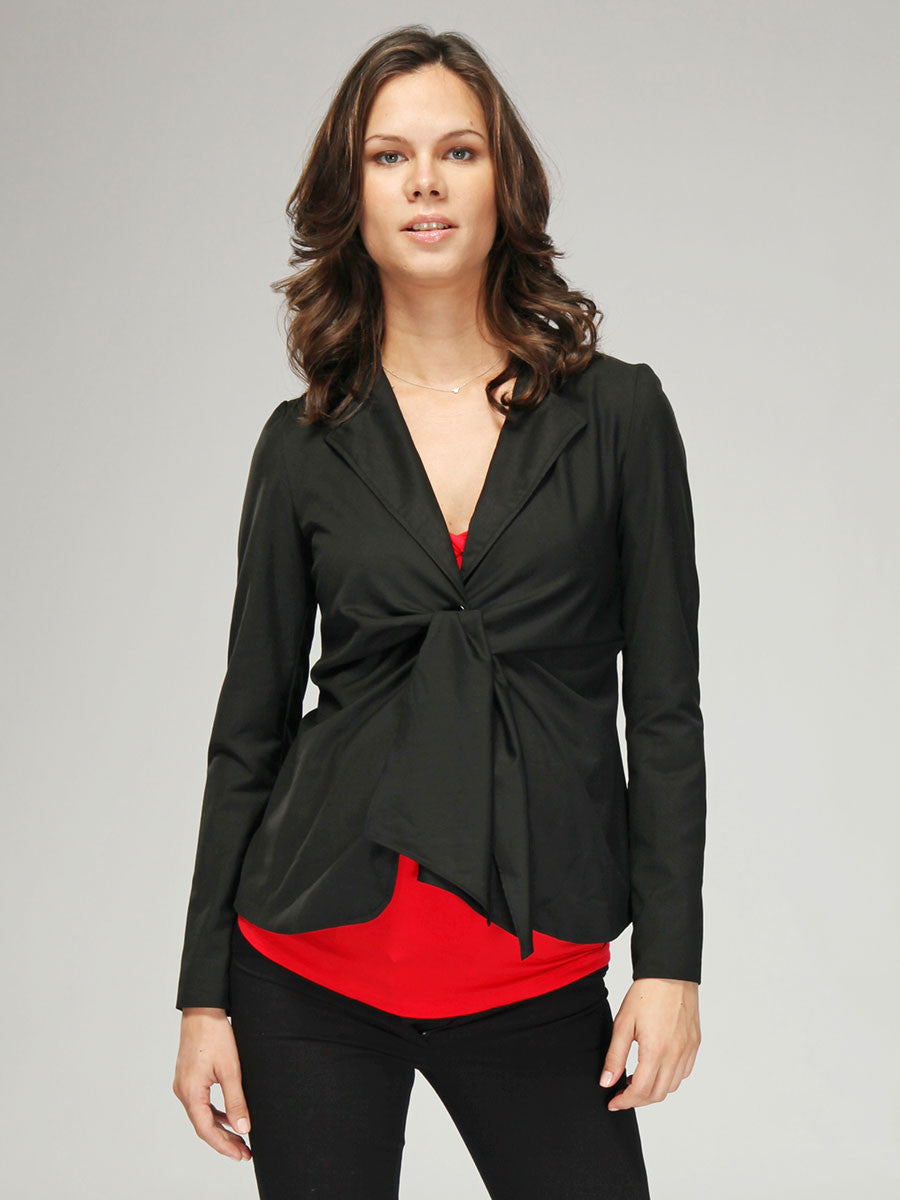 Maternity Front Tie Suit Jacket