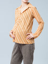 Button-Up Striped Nursing Friendly Maternity Blouse