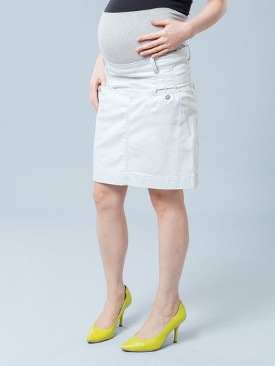 Noppies Maternity Light Wash Four Pocket Denim Skirt
