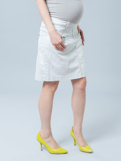 Noppies Maternity Denim Skirt with Belly Panel and Belt Loops
