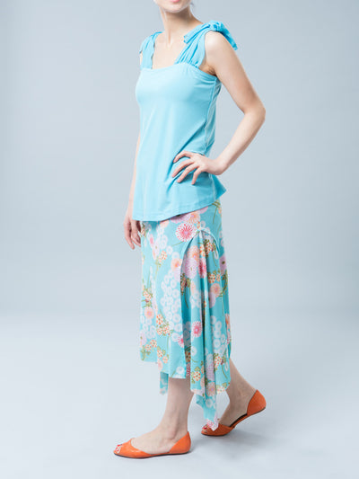 Summer Sleeveless Maternity Top Accommodates Pregnant Belly