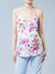 Floral Mesh Maternity Tank