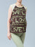 Maternity Graphic Tee with Love, Belly & Baby Wordings - Left Side Profile