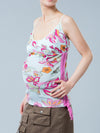 Maternity Tank-Side Drawstring-Accommodate your Pregnany Belly
