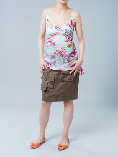 Maternity Tank with Elasticized Empire-Line for Support