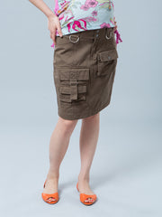 Underbelly Five-Pocket Maternity Cargo Skirt