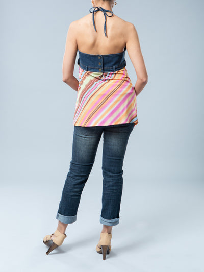 Crop Maternity Jeans with Inside Elastic Accommodates Belly