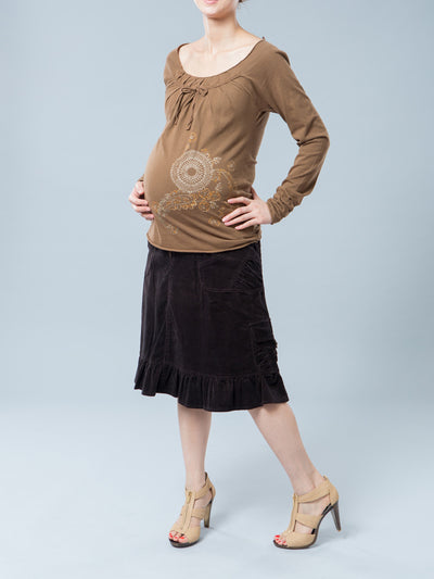 Noppies Raglan Long Sleeves Maternity Top Paired with Maternity Skirt
