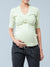Buckle Detailed Overlay Nursing Top