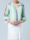 Noppies Collared Nursing Friendly Crinkle Maternity Shirt