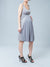 Bra-Friendly Sleeveless Maternity Dress with a Chiffon Drape