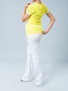 Maternity Layered Sportive Tee with Hood Paired with Maternity Bootcut Cotton Pants
