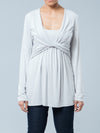 Ripe Long Sleeve Twist Front Empire A-Line Maternity Top
