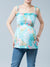 Smocked Babydoll Maternity Tank Accommodates Pregnancy Belly