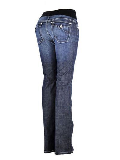 Slim Bootcut  Jeans with Belly Panel Accommodates Pregnant Belly