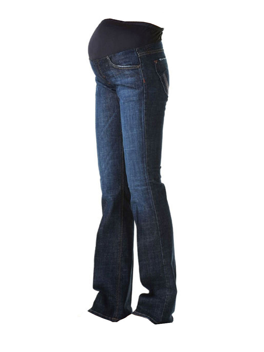 Slim Bootcut Jeans with Pregnant Belly Panel