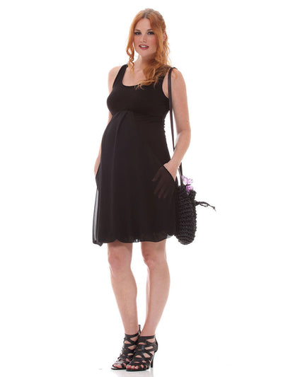 Stretchy Sleeveless Maternity Dress for 9 Months and Beyond
