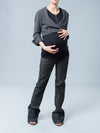 Maternity Cropped Double-Breasted Blazer Paired with Maternity Bootcut Jeans