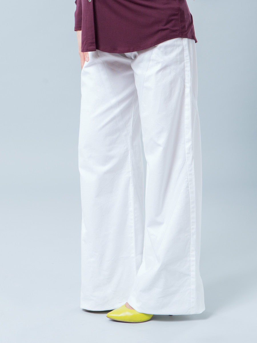 Wide Straight Leg Cotton Maternity Pants