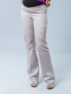 Underbelly Slim Bootcut Woven Pants for Pregnant Belly