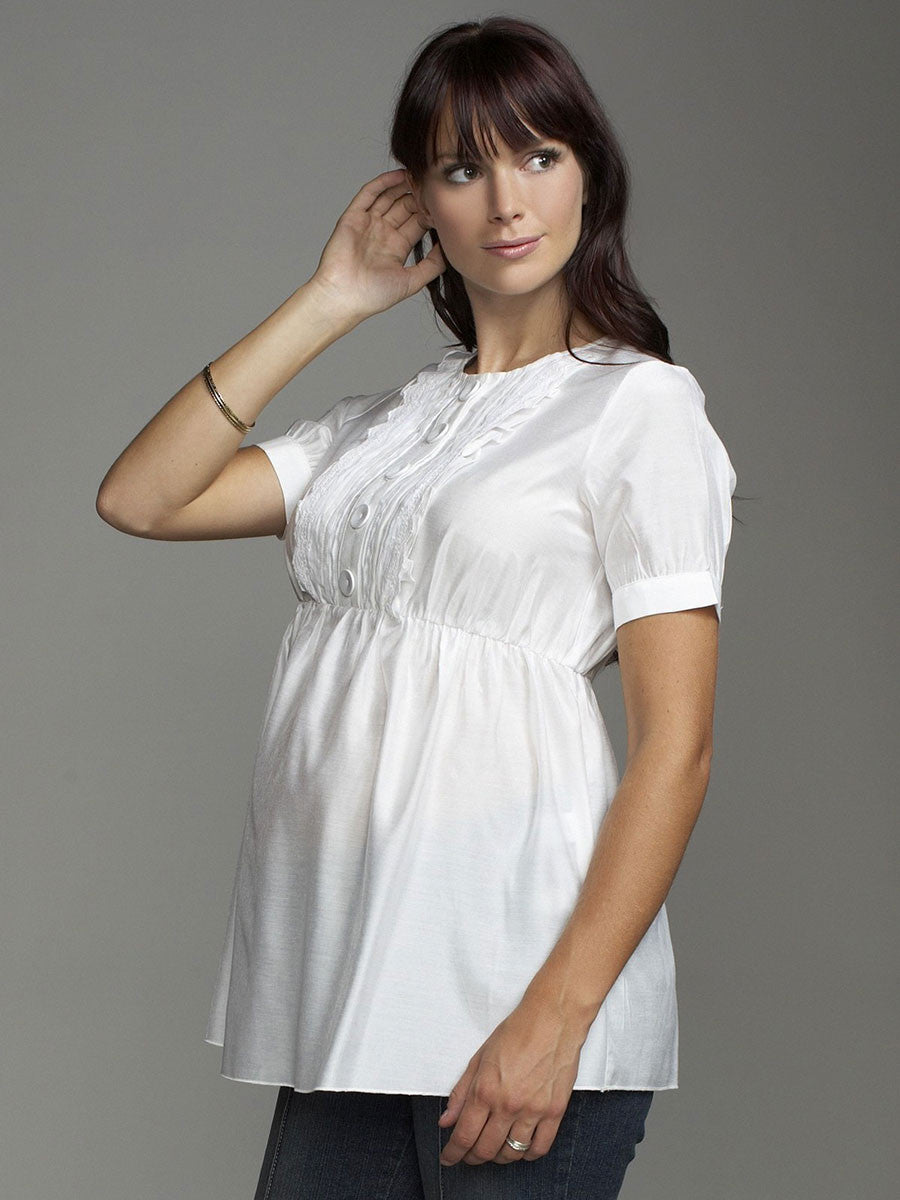 Babydoll Nursing-Friendly Silk Maternity Shirt