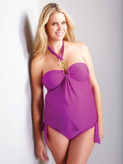 Triple Gold Ring Maternity Tankini