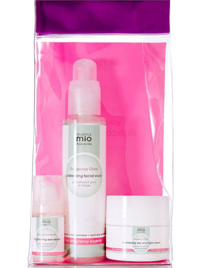 Mama Mio Gorgeous Glow 3-Step Skincare System - Back Packaging Details