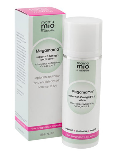 Mama Mio Megamama Super-Rich Omega Body Lotion - Carton & Bottle