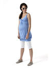 Empire Style Banded Maternity Tunic for Pregnant Belly