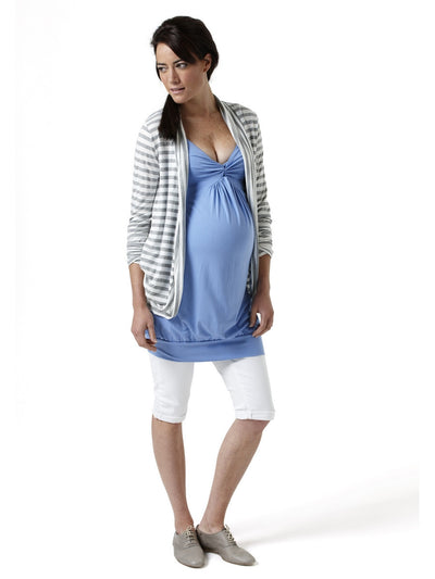 Maternity Tunic with Elasticized Shoulder Straps for a Perfect Fit