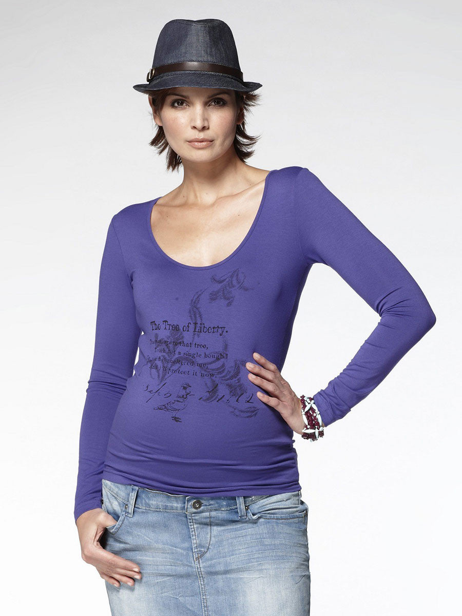 Noppies Maternity Wear Long Sleeve Scoop Neck Graphic Tee