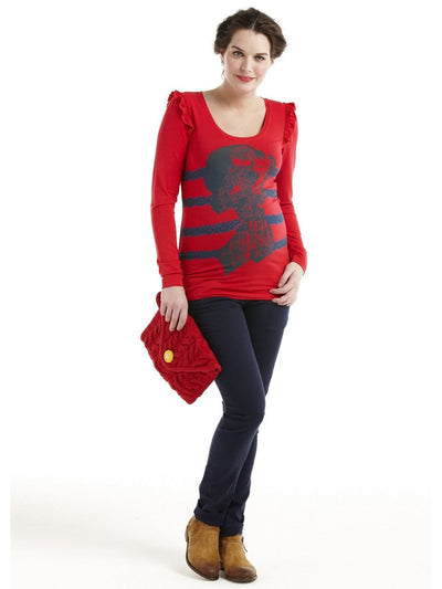 Maternity Clothes Long Sleeve Woman Print Graphic Tee