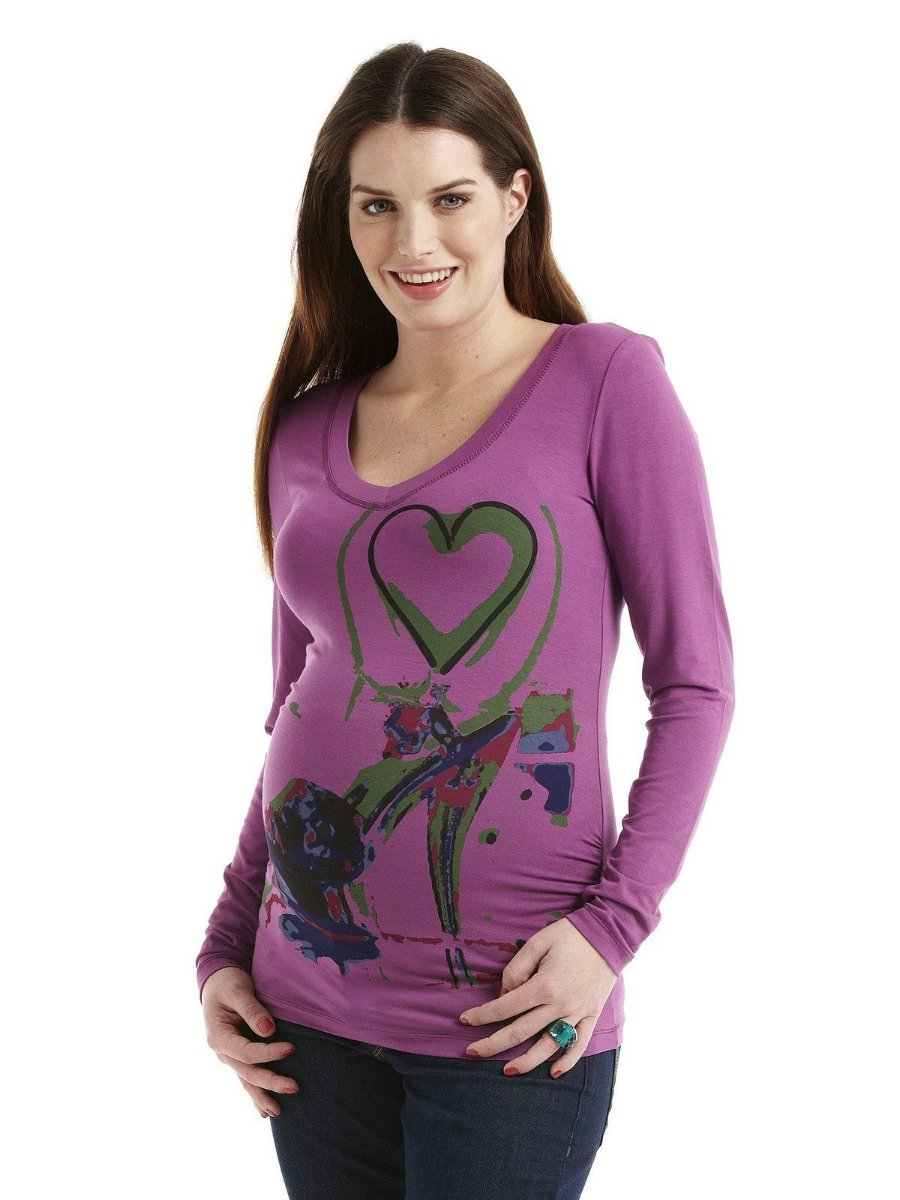Noppies Maternity V-Neck High Graphie Tee