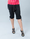 Noppies Maternity Capris with Side Criss-Cross String Detail - Front View