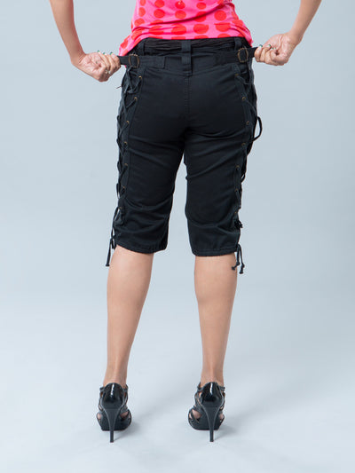 Noppies Maternity Capris - Tab/Buckle Feature on the Back Used to Adjust Capris Tighter or Looser