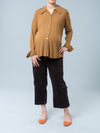Noppies Maternity Corduroy Cargo Crop Maternity Pants - Chocolate Color - Front View