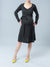 Wool Blend Maternity Dress with External Side Pockets & Belt