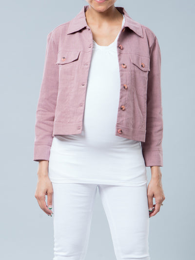 Noppies Maternity Non-Wrinkly Linen Blend Cropped Jacket