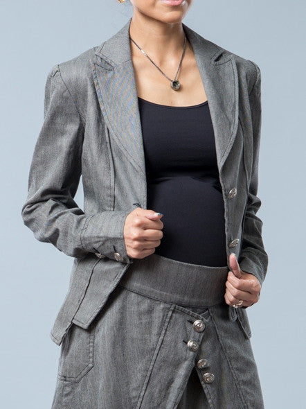 Noppies Maternity Herringbone Print Blazer