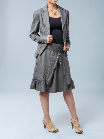 Noppies Maternity Herringbone Print Blazer - Open Front Look