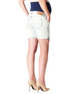 5-Pocket Bleached Maternity Denim Shorts
