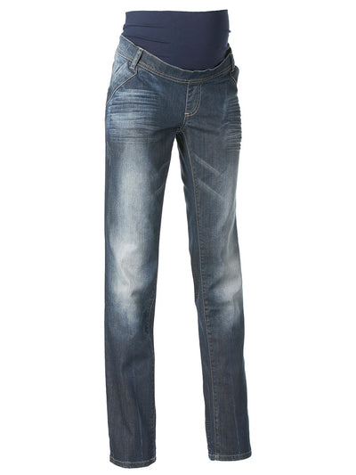 Noppies Slim Straight Maternity Jeans with Pregnant Belly Panel