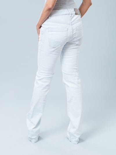 5-Pocket Slim Straight Light Wash Maternity Jeans