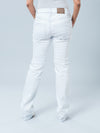 Slim Straight Jeans with Belly Panel for Pregnant Belly