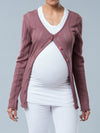 Noppies Maternity Button-Up Knit Cardigan - Rose Color