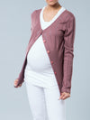 Noppies Maternity Button-Up Knit Cardigan Paired with Fitted Maternity Tee