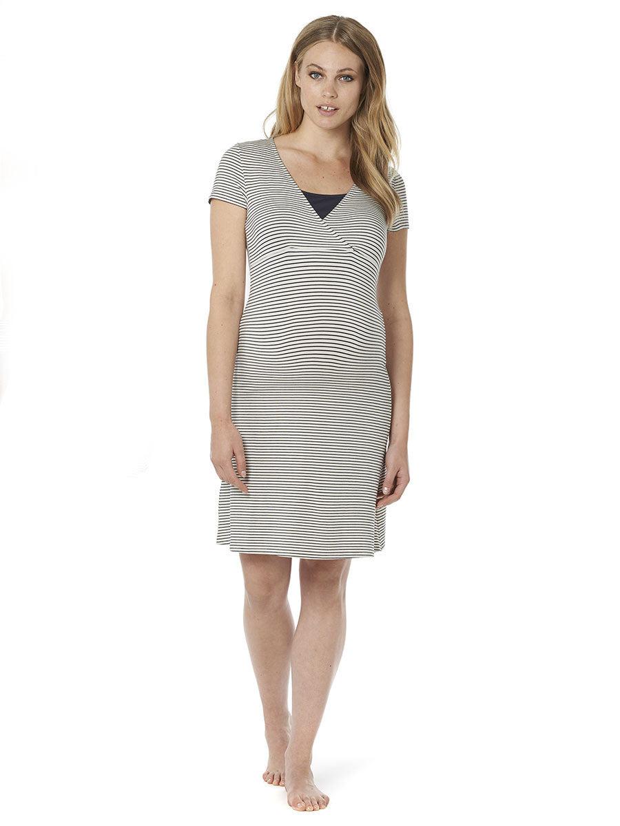 Noppies Maternity Maternity & Nursing Pajama Dress - Front View